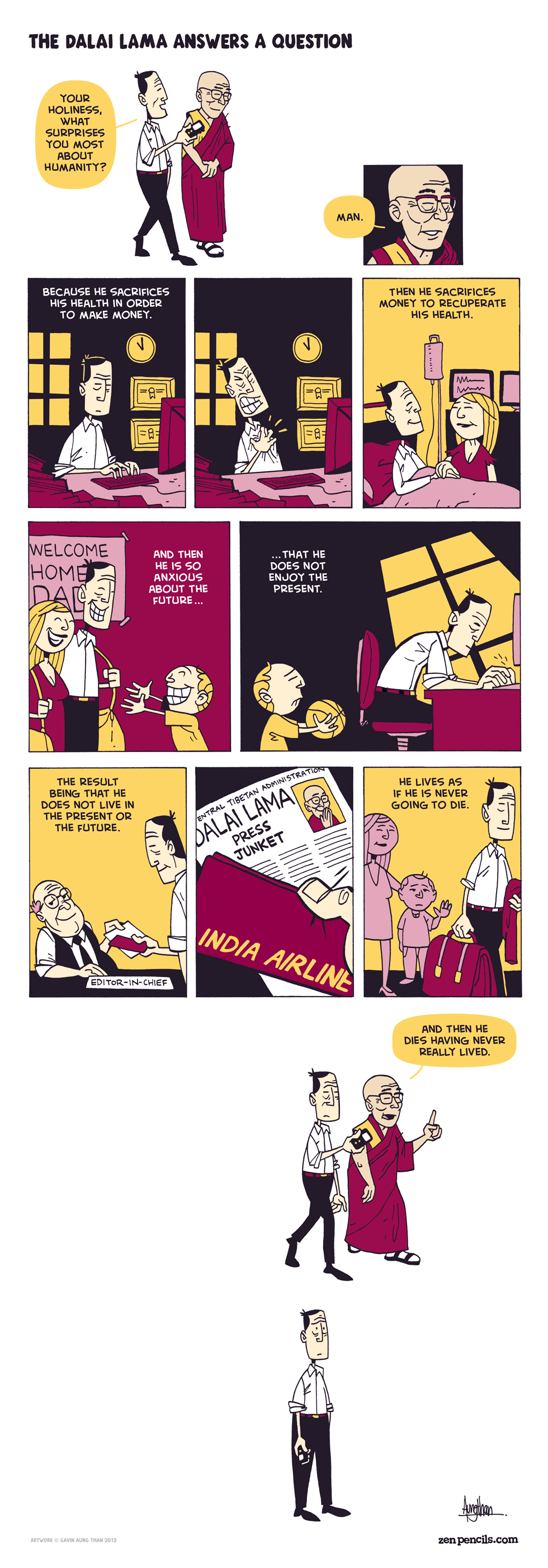 Comic of the Day: Dalai Lama answers a question