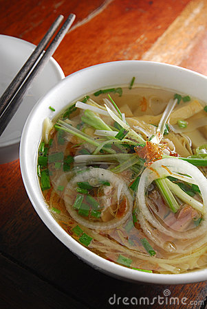 Here's an example of a Pho dish, I myself prefer the vermicelli noodles