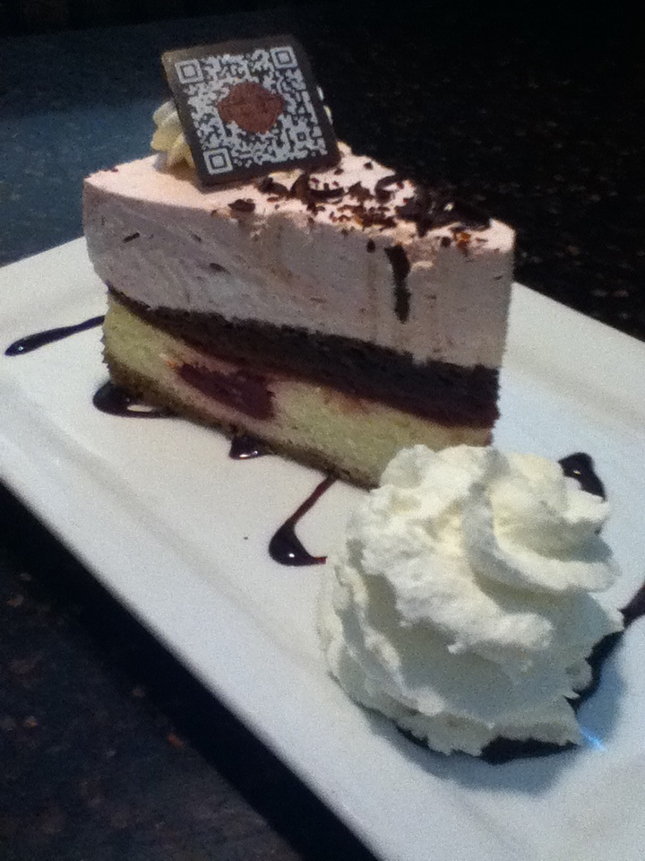 My very delicious piece of cheesecake :)