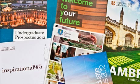 Choice of university. University prospectuses for prospective students