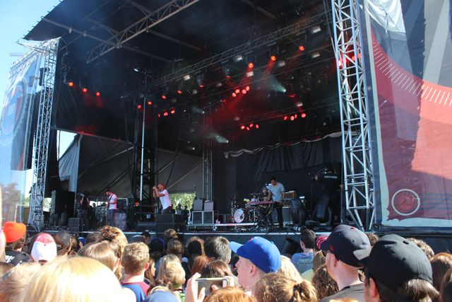 Awolnation preforming at X-Fest