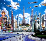 Will our future encompass limited roads and more liberal sky travel? (Source)