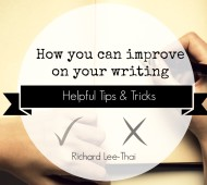 How you can improve on your writing