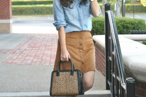 How to style the suede skirt