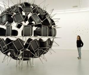Bizarre art at Le musee d'art contemporain de Montreal