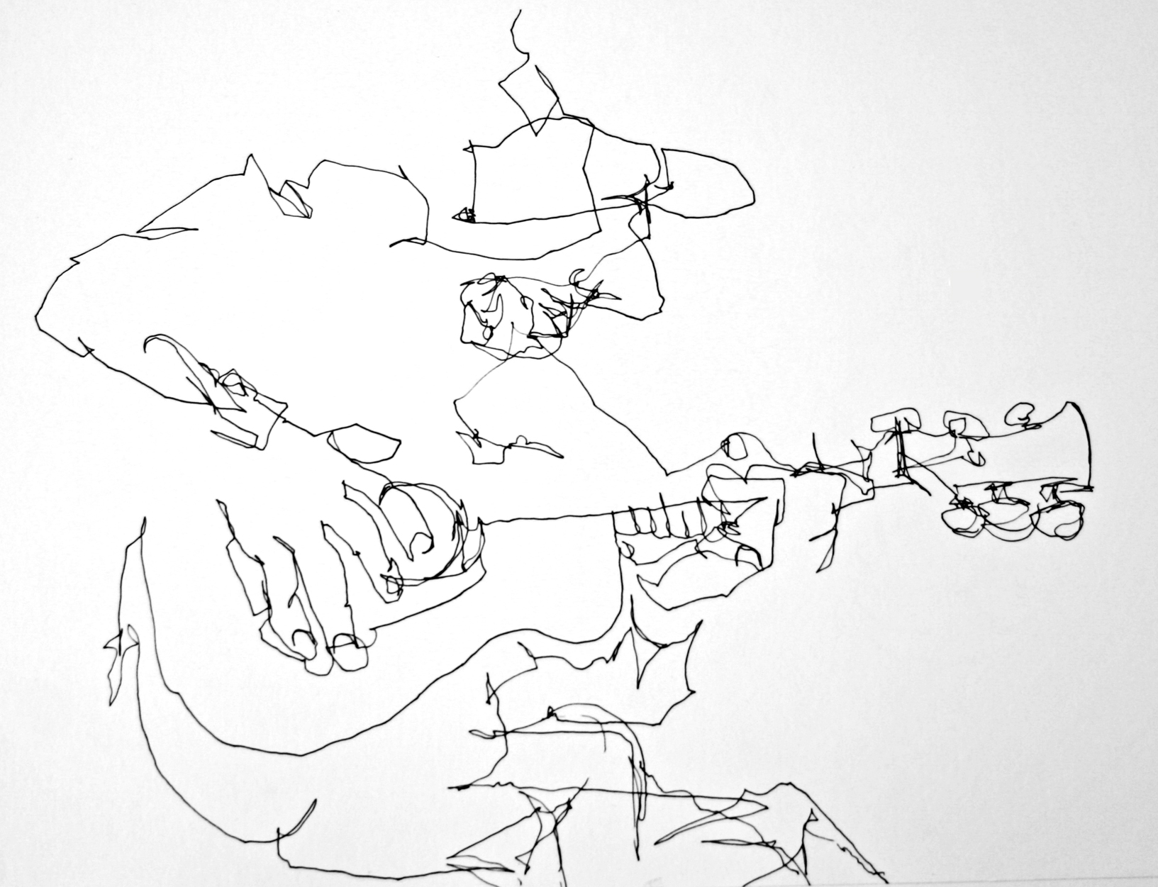 Blind Contour Line Drawing Face : Contour drawing youth are awesome